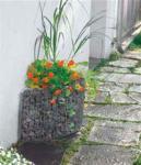 Bellissa Hauswand Beet Wandbeet Blumentopf Gabionen Gartendeko