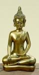 Buddha antik gold finish 37cm Bhumisparsha Skulptur Kunstharz Mönch Deko Figur Feng Shui