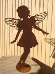 ENGEL CAROLINA TANZEND 104 cm fliligrane Flügel Edelrost Rost Weihnachtsengel