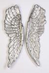 3D Wandobjekt 1 Paar ENGELSFLÜGEL SILBER 1m hoch Design Flügel Wings Wanddeko