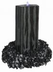 Granit Wasserspiel Zebra Höhe 70 cm Wasserbrunnen Quellstein Zierbrunnen