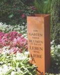 SÄULE GEDICHT GARTEN zum Bepflanzen Höhe 100cm Edelrost Rost