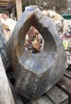 OZEANFINDLING Findling 69x58cm 105kg Naturstein Meeresgestein Skulptur Stein