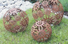 Sonnenkugel 30/40cm Kugel Sonne Edelrost Rost Gartendekoration Ball Kugeln Bälle