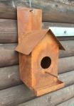 Vogelhaus für Wand Nistkasten Futterhaus Haus Garten Edelrost Rost Metall Deko