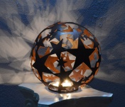 STERNKUGEL D30cm ZUM BELEUCHTEN Edelrost Rost Stern Kugel Kerze Dekoration