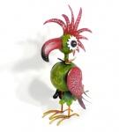 Windlicht Vogel Papageno 56cm Papagei Tukan bunt Metall Figur handbemalt