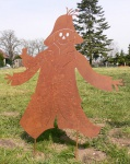 VOGELSCHEUCHE 100x95cm Rost Edelrost Metall Figur Gartenstecker Halloween