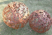 KUGEL RANKE Ornament D50cm zum Beleuchten Edelrost Rost Dekoration Deko Garten