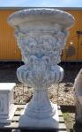 XXL Amphore riesig 130cm Pflanzgefäß Blumenkübel Steinguss Steinfigur Gartendeko