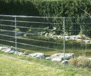 Bellissa Teichschutzzaun Teichzaun verzinkt 7, 10 m Zaun Met