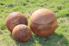 Vollkugel KUGEL D40cm Edelrost Rost Metall Ball Dekoration Gartendekoration