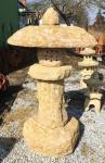 Asia Laterne aus Gelben Sandstein gehauen 100cm Steinlaterne Rankei Pagode