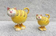WACKEL-KATZE 2 Sorten L12cm / L16cm Katze Wackel Figur Keramik handbemalt WITZIG