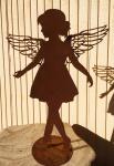 ENGEL ANNA LISA TANZEND 110 cm fliligrane Flügel Edelrost Rost Weihnachtsengel