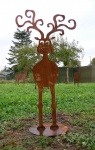 Rudolph Rentier Rudi Hirsch Elch Edelrost 100 cm Metall Rostfigur Figur