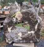OZEANFINDLING Findling 67x69cm 114kg Naturstein Meeresgestein Dekostein Stein