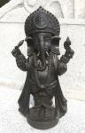 GANESHA stehend H35cm schwarz Elefant Kunstharz Dekoration Figur Skulptur
