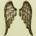 3D Wand Objekt 1 Paar ENGELSFLÜGEL Gold 40 cm Cosmo Design Flügel Wings Wanddeko