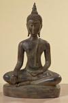 Thai Buddha 37cm antik finish Polyresin Dekoration Figur Skulptur wetterfest