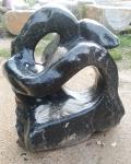 OZEANFINDLING Findling 110x107cm Naturstein Asia Show Stone SKULPTUR Stein