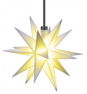3D LED MINI STERN Weiß Gelb Rot 12 cm Batterie für außen Timer Weihnachtsstern - Vorschau 3