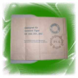 Filtertüten / Filter / Staubsaugerbeutel für Vorwerk Tiger 250 / 251 / 252