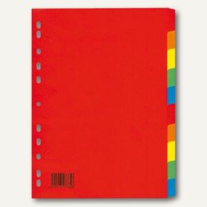Karton-Register DIN A4, 10 teilig, 175 g/m², Euro-Lochung, 25 St., 4248700