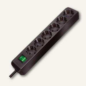 """Steckdosenleiste """" Eco-Line"""", 6-fach, lichtgrau, Schalter, 2 Stück, 1159550015"""