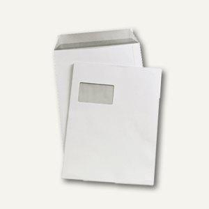 MAILmedia Versandtasche C4 mit Fenster, haftkl., 90 g/m², weiß, 250 St., 388340