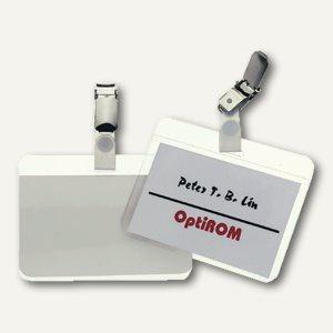 Namensschild zum Laminieren, bis 90 x 54 mm, transparent, 25 Stück, 8102-19