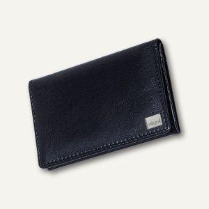 Sigel Visitenkartenmappe Torino, 30 Karten, 90 x 60 mm, Nappaleder schwarz, VZ200