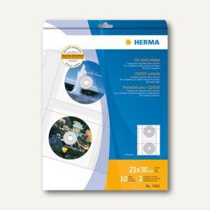 Herma CD-Hüllen aus transparenter Folie, inkl. Papierhüllen, 30 St., 7682