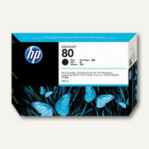 HP Tintenpatrone Nr.80, schwarz, 350 ml, C4871A