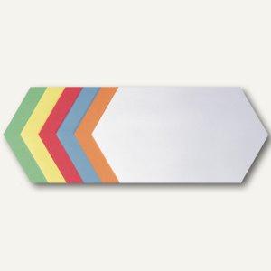 Franken Moderatorenkarten - Rhombus, selbstklebend, 6 Farben, 300 St., UMZS92099