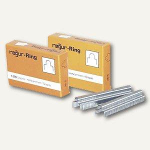 Regur Gold Ringösen- Heftklammern RR 6mm, 1.000er Pack, RR 6 mm