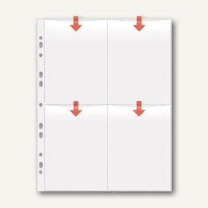 Veloflex Fotohüllen, DIN A4, für 8 Fotos 10 x 15 cm hoch, 50 Stück, 5347300
