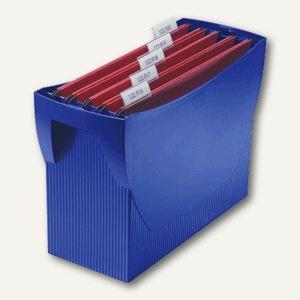 Hängemappenbox Swing DIN A4, PS, für 20 Mappen/3 Ordner, ohne Deckel, blau