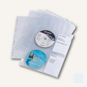 Durable CD/DVD COVER light M, DIN A4, PP, transparent, 30 Stück, 5238-19