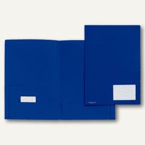 Broschüren-Mappe A4, PP, Abheftlaschen, Taschen/Innen, 2x 50 Bl., blau, 20 St.