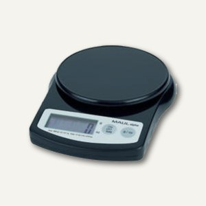 MAUL Briefwaage MAULalpha mit Batterie, Tragkraft 2000 g, schwarz, 1642090