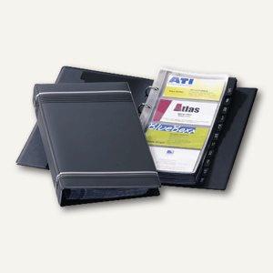 Durable Visifix Visitenkartenringbuch für 200 Karten, anthrazit, 2385-58
