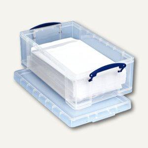 Aufbewahrungsbox 12 Liter, für DIN C4, 460 x 270 x 155 mm, transparent, 4805017