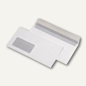 Briefumschläge DIN lang, haftklebend, FSC Mix 80g/m², Fenster, weiß, 1.000 St.