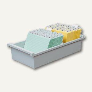 HAN Karteitrog DIN A7 quer, für 1.300 Karten, Kunststoff, grau, 957-0-11