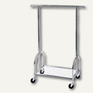 officio Mobile fahrbare Garderobe, sehr stabil, 90 x 54 x 130-150-170cm