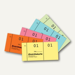 Avery Zweckform Eintrittskarten, farbig sortiert, 5 x 100 Blatt, 871 - Vorschau