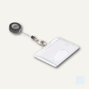 Durable Ausweishalter mit Jojo, 87 x 54 mm, geschlossen, 10 Stück, 8012-19