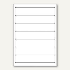officio PC-Rückenschilder, selbstklebend, schmal/kurz, weiß, 700 Etiketten