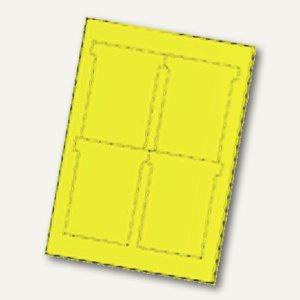 Ultradex T-Karten, bedruckbar, 92 x 120 mm Breitformat, hellgelb, 80 St., 543450